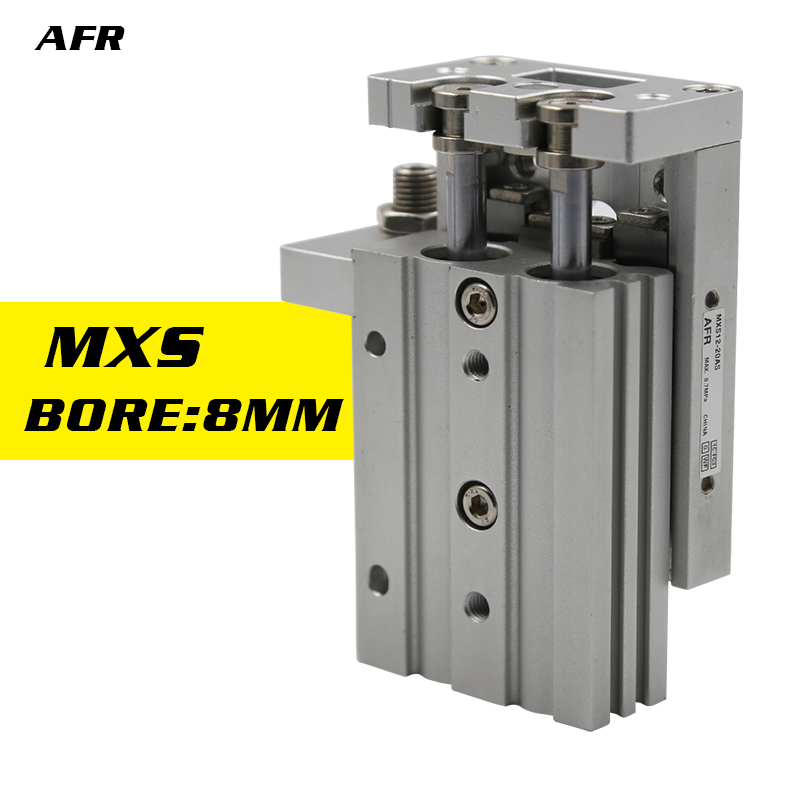 Double Acting 8mm Bore Slide guide cylinder MXS8-10AS MXS8-20AS MXS8-30AS MXS8-40AS MXS8-50AS MXS8-75A Pneumatic Air Cylinder hls mxs8 30 smc type mxs series cylinder mxs8 30a 30as 30at 30b air slide table double acting 8mm bore 30mm stroke