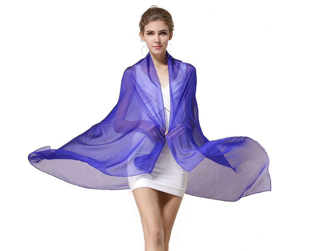 Long Solid Color Pure Silk Scarf Women Ss