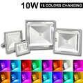 10 W/20 W/30 W/50 W RGB AC85-265V Luz de inundación Led decorativa al aire libre luz con mando a distancia