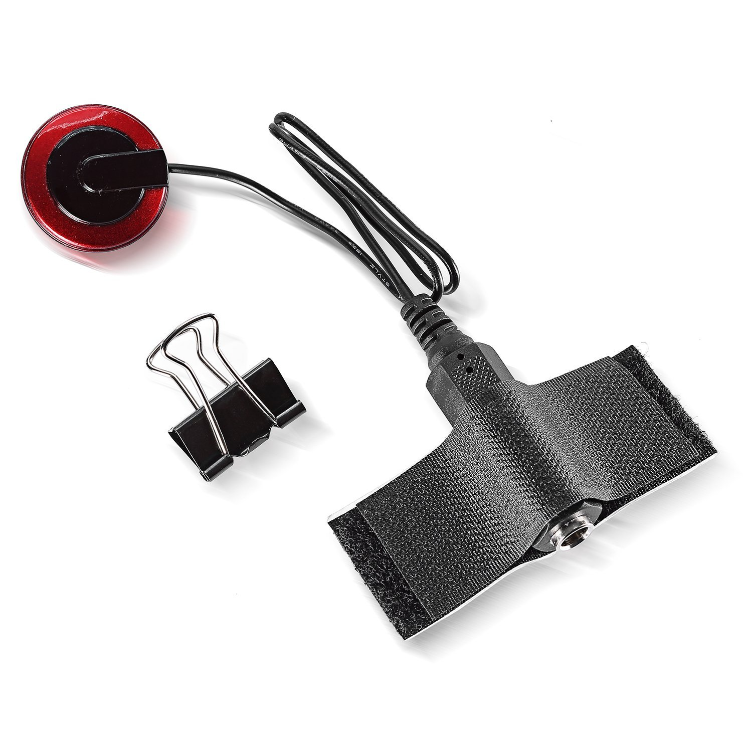 5-Pack Piezo Contact Microphone Pickups for Guitar, Violin, Banjo, OUD, Ukulele, Mandolin, Cello and More, Pick up Clear