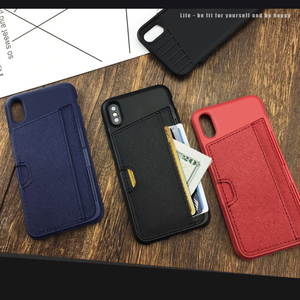 Image 3 - Esamday Slim PU Leather case for iPhone X Case Luxury Back Cover Card Stand Holder Wallet Credit Card Pocket mobile Phone Bag