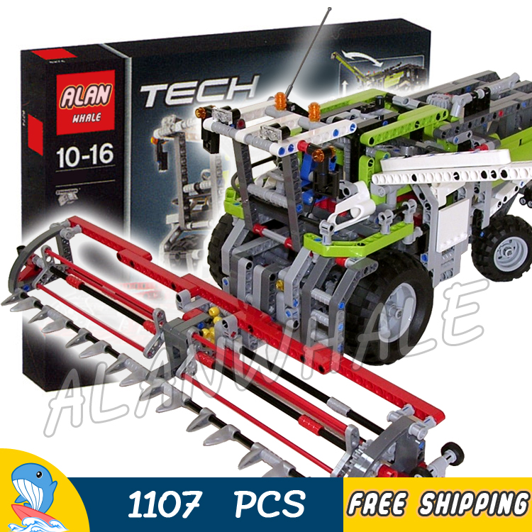 1107pcs 2in1 Techinic Combine Harvester High-speed Dragster 20041 DIY Arm Model Building Blocks Toys Bricks Compatible With lego усилитель dragster daf7001