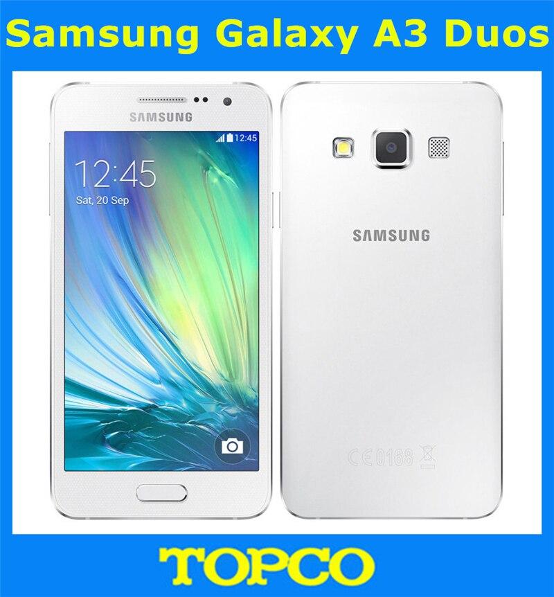 """Цена за Samsung Galaxy A3 Duos Оригинальный Разблокирована 4 Г GSM Android Мобильный Телефон Dual Sim Quad Core 4.5 """"8MP ROM 8 ГБ Dropshipping"""