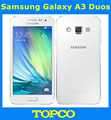 "Samsung Galaxy A3 Duos Original Unlocked 4G GSM Android Mobile Phone Dual Sim Quad Core 4.5"" 8MP ROM 16GB Dropshipping"