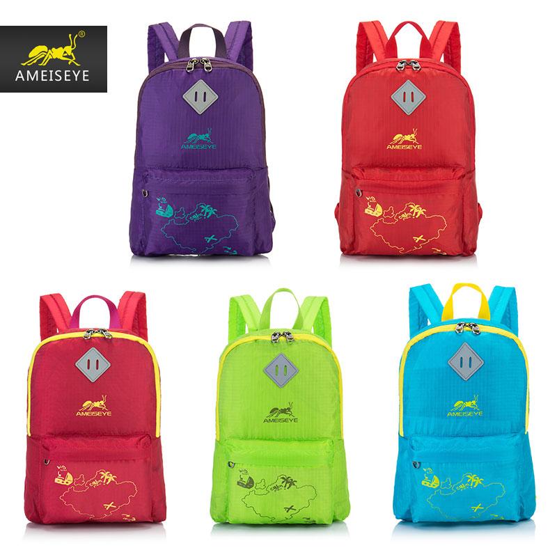 AMEISEYE travel backpack, large capacity backpack, waterproof skin package, foldable portable mountaineering ba