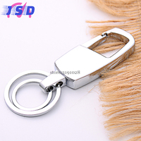 Car Styling Metal Double Ring Keychain Auto Key Ring Keyholder Gift For Mercedes BENZ BMW Chevrolet
