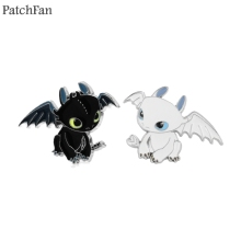 Patchfan How to Train Your Dragon Toothless Night Fury Zinc pins para backpack clothes bag hat badges brooches decoration A1296