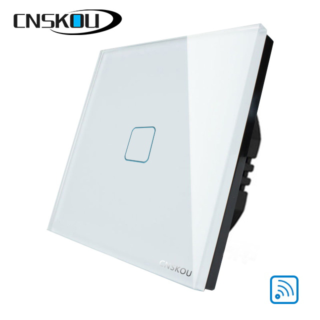 CNSKOU EU/UK WALL LIGHT TOUCH SCREEN SWITCH, CRYSTAL GLASS PANEL AC110-250V, 1GANG 1WAY WIRELESS REMOTE CONTROL TOUCH SWITCH блок питания atx 450 вт inwin rb s450t7 0