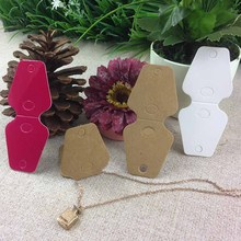 100 PCS /LOT New Hot  Blank  Kraft  Key Chain Card  Mobile Charm Card s DIY  Necklace Card Custom Logo cost extra