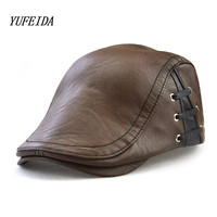 PU Baseball Cap Men Snapback Cap Hat Women Vintage Bandage Design Baseball Hat For Men Casquette