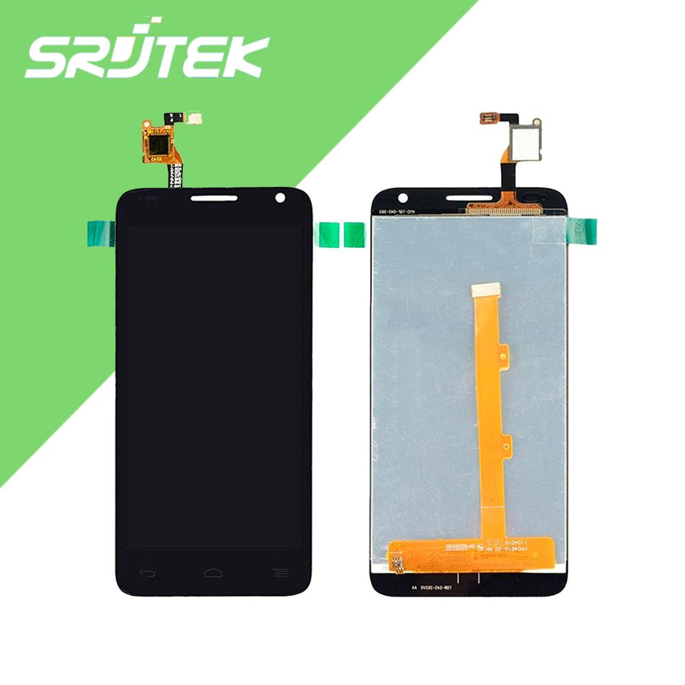 100% New For Alcatel One Touch Idol 2 Mini S OT6036 6036 6036Y LCD Display + Touch Screen Digitizer Assembly Black Free Shipping