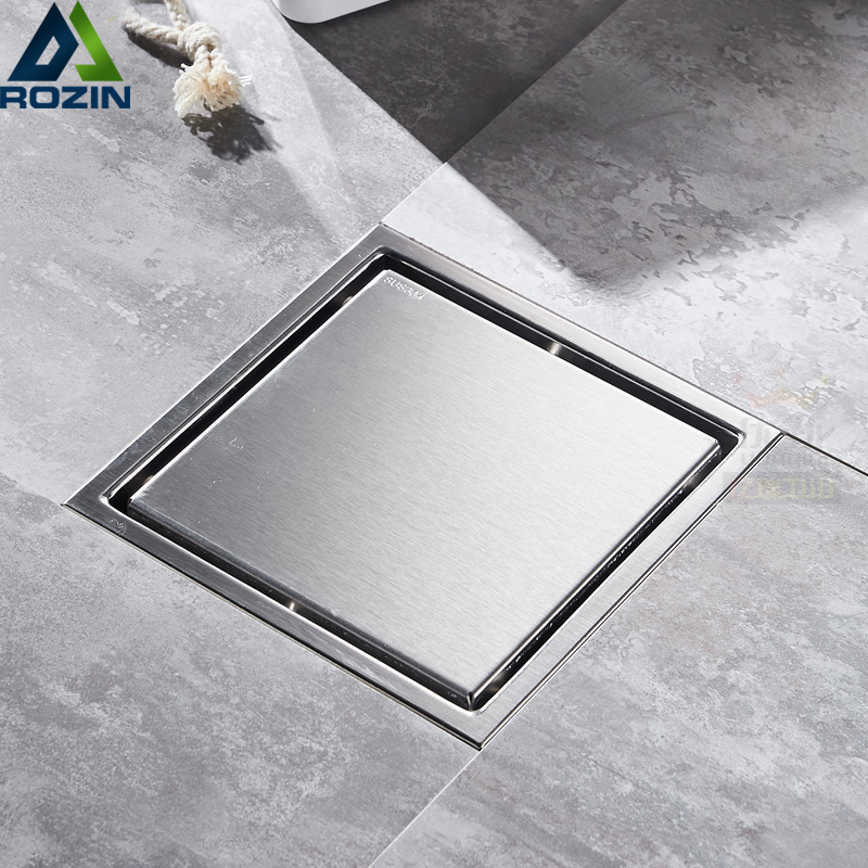 Stainless Steel Floor Drain Waste Grate Square Invisible Anti-odor Bathroom Shower Drainer Strainer 11 *11cm stainless steel floor drain waste grate square invisible anti odor bathroom shower drainer strainer 11 11cm