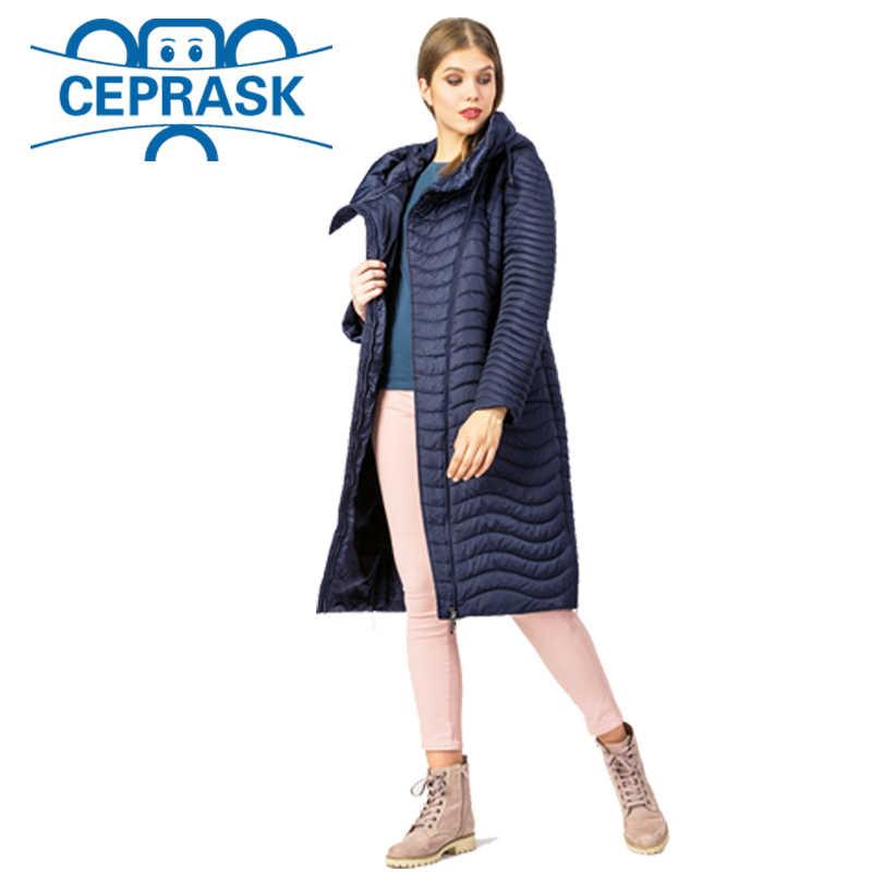 2020 새로운 봄 가을 컬렉션 고품질 여성 자켓 따뜻한 Windproof 얇은 여성 파카 롱 플러스 사이즈 여성 코트 CEPRASK