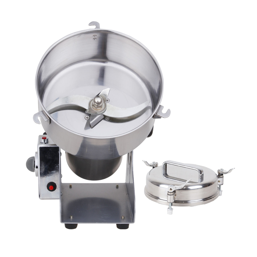Electric Powder Grinder YB-1500A Stainless Steel Grinding Machine 1500g Rocking Grinding Machine for Grain/ BeanElectric Powder Grinder YB-1500A Stainless Steel Grinding Machine 1500g Rocking Grinding Machine for Grain/ Bean