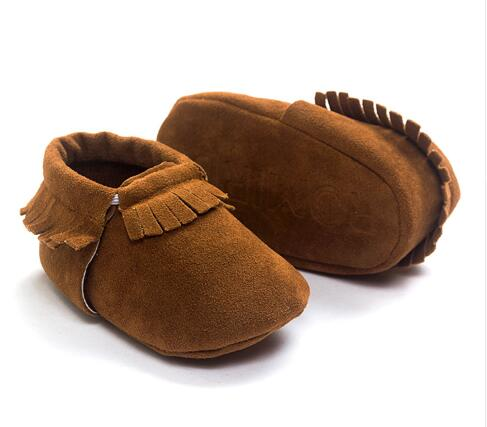 Newborn Baby Shoes Crib Bebe Girls Princess First Walkers Mary Jane PU Suede Leather Kids Moccasins Prewalkers