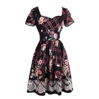 Short Sleeved Dress Restoring Ancient Ways Of Tall Waist Dress Lace Dress Cultivate One S Morality