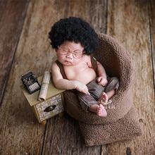 newborn photography props mini creative retro phonograph typing radio television recorder accessory