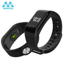 Memteq спортивные Приборы для измерения артериального давления кислорода умный Браслет Bluetooth 4.0 Смарт часы для Android IOS сна Мониторы браслет часы форт