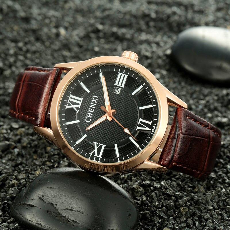461e7934e86e Chenxi hueco Roma dial oro Japón movt 3 años de vida cuarzo analógico  vestido relojes de pulsera para hombres 083A OP001