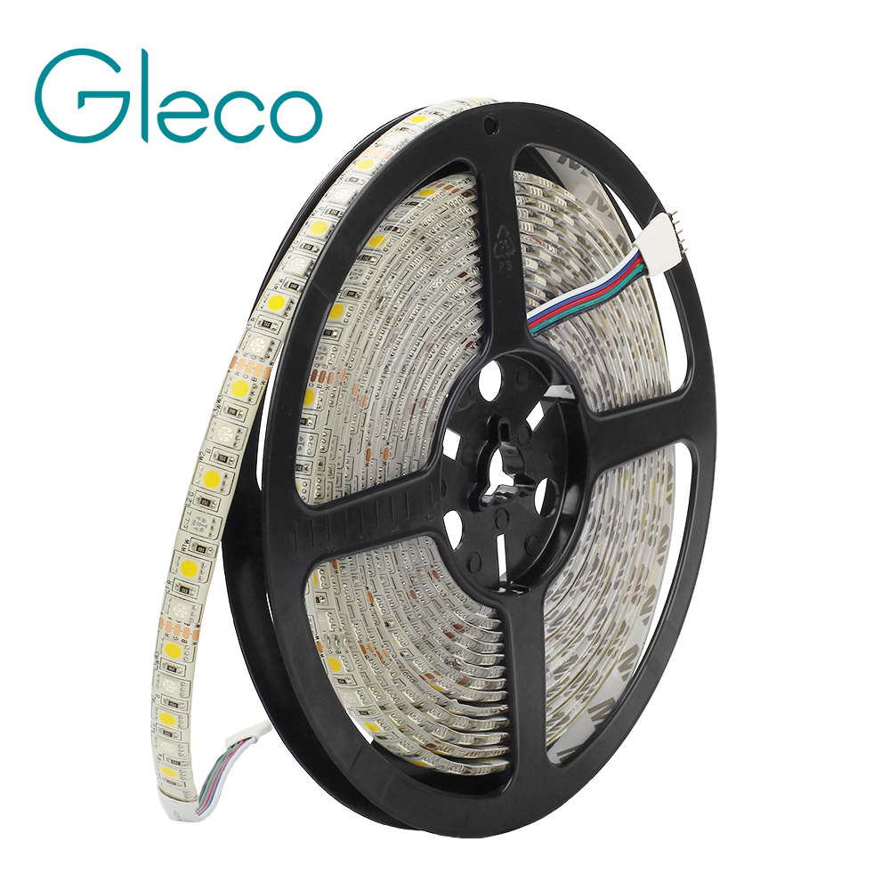 DC12V LED Strip 5050 96LEDs/m 5M/lot RGBW RGBWW Super Bright 5050 LED Flexible Strip Light RGB + White IP20 IP65 Waterproof