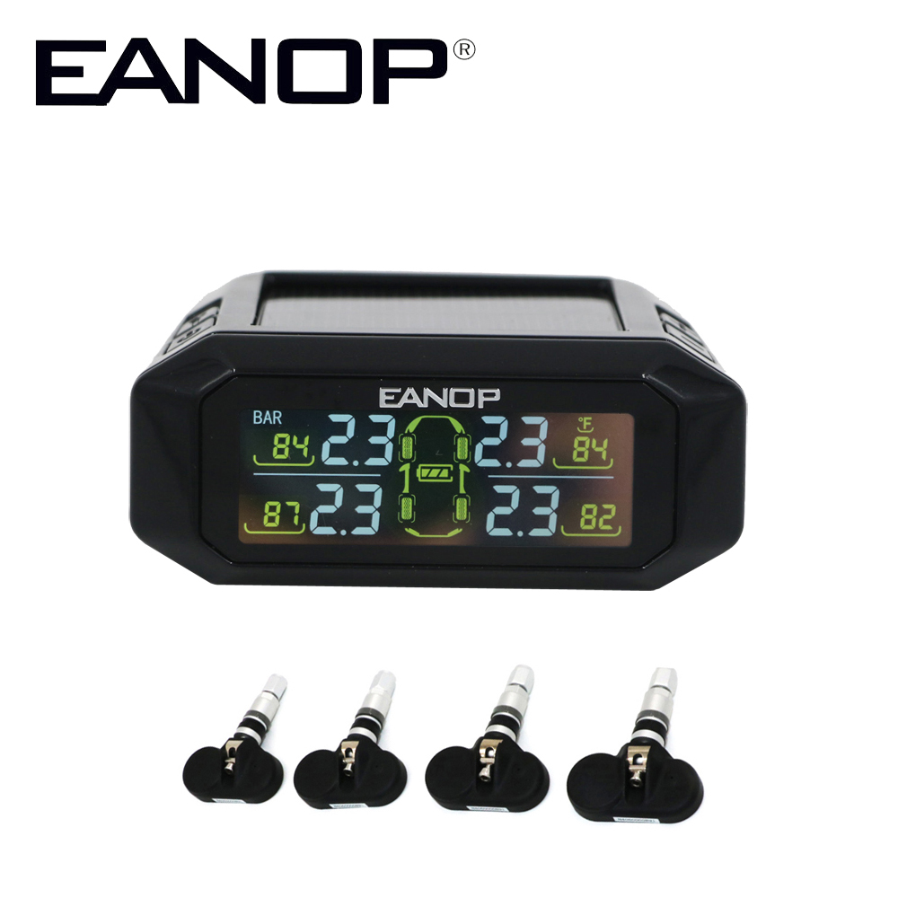 EANOP S601 Car TPMS Solar Tire Pressure Monitoring System Tyre Pressure Sensor Internal Max 116PSI цена