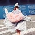 2016 Nuevo de Corea Del Invierno Mujeres de la Capa Elegante de Piel Caliente Gruesa cuello de la Chaqueta Con Capucha de Algodón de Alta calidad Mujeres de Gran tamaño Escudo Z632