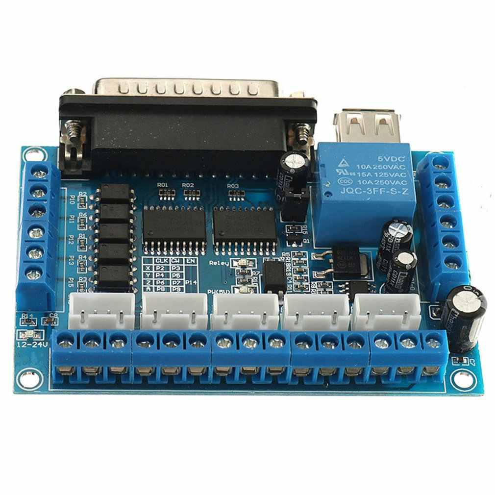 Mach3 Engraving Machine Interface Board 5-Axis Stepper Motor Driver Cnc Interface Board With Light