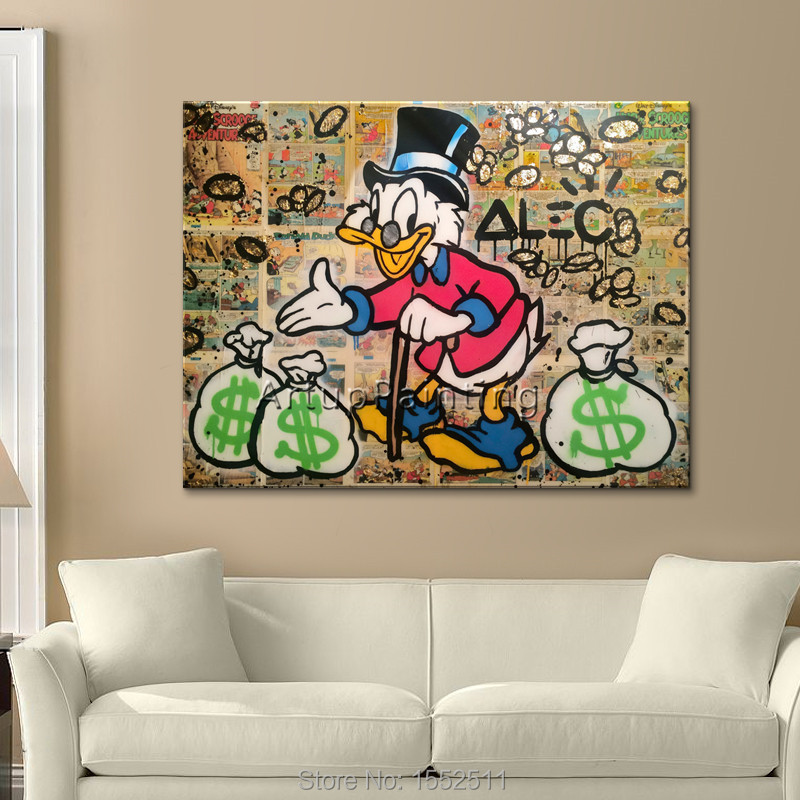 Alec Cartoon Graffiti Animal Duck Poster And Print Wall