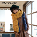 Thick  Wool Knitted Women Scarves Winter Warm  Muffle Solid  Knitting Fashion Sshawl 4 Colors  Acrylic Neckerchief