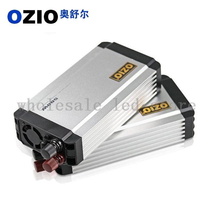 ФОТО Ozio 1pcs Car Power Inverter dc 12v to ac 220v 500w USB 500mA EU50 New Arrival Free Shipping
