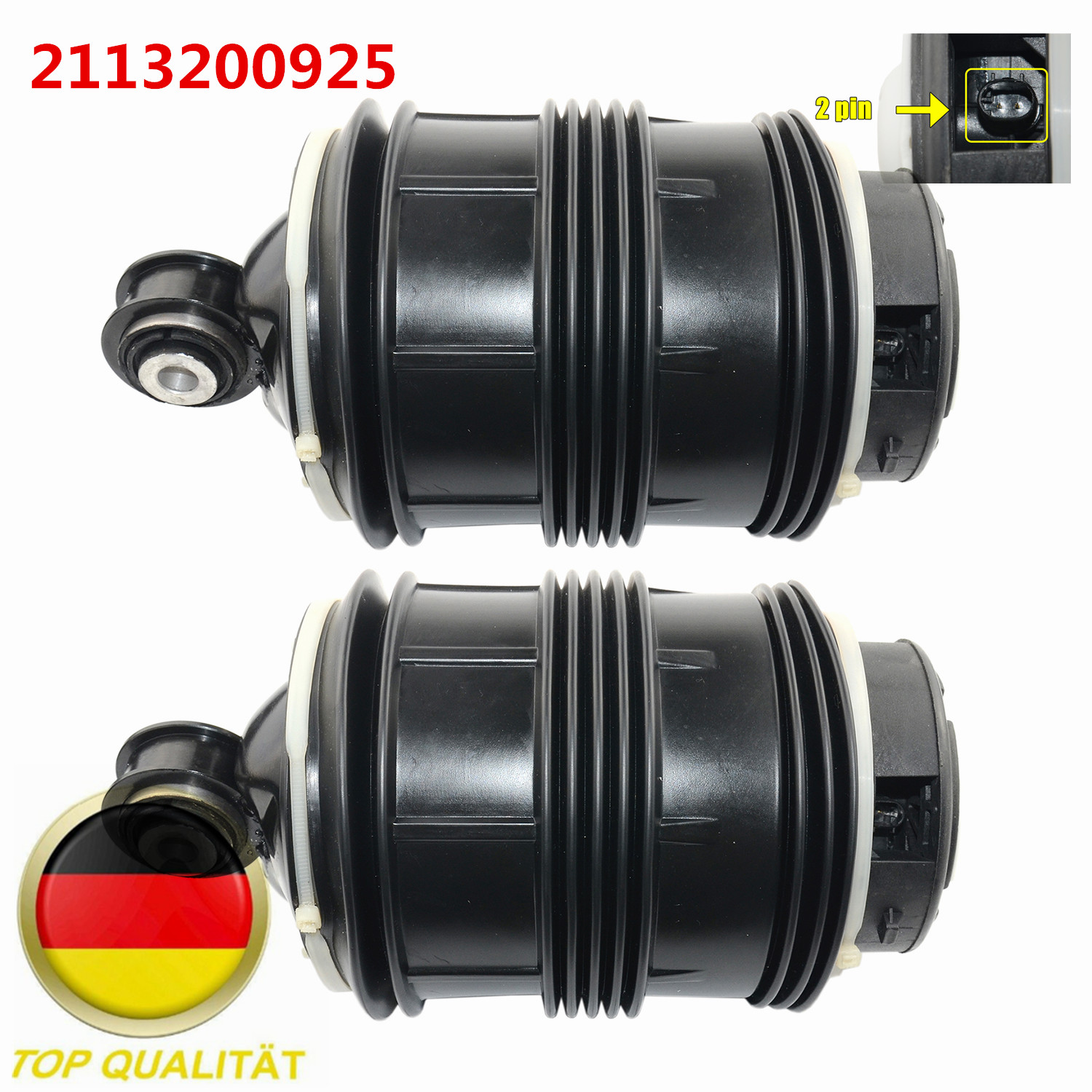AP02 Pair 2pins Rear Air Suspension Spring A2113200925 For <font><b>Mercedes</b></font> E-Class W211 S211 E200 E220 E350 E500 2113200925 image