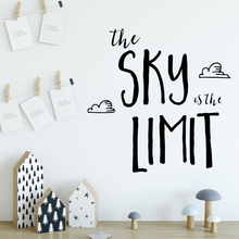 купить XL sky limit Art Sticker Waterproof Wall Stickers For Living Room Bedroom Nordic Style Home Decoration по цене 105.51 рублей