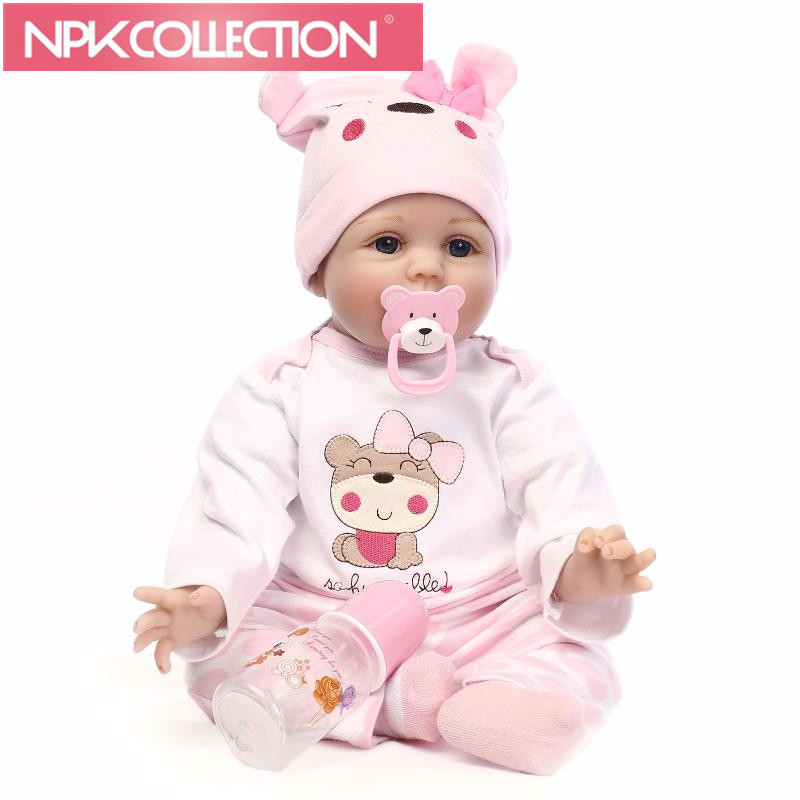 22inch Lifelike Newborn Doll Hair Rooted Realistic Reborn Baby Dolls Soft Silicone American Girl Doll Accessories Gift Toys D02