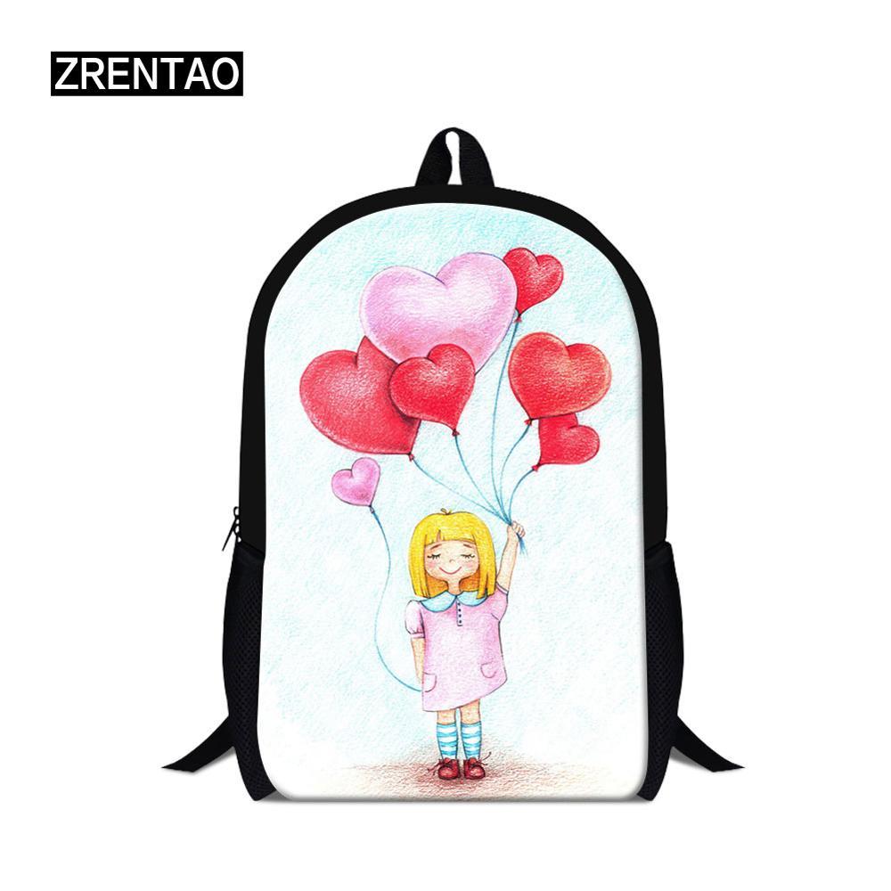 ✔  Симпатичный мультфильм йога принт женский путешествия школьный рюкзак большой емкости школьный портф ①