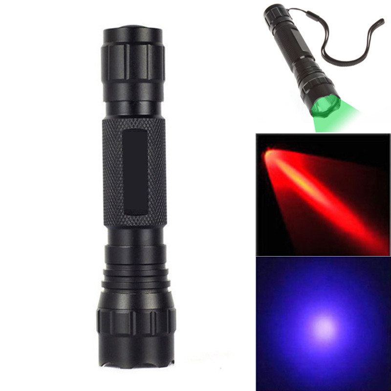 3W UV LED Flashlight WF-501b Purple/Red/Green Light Lamp 365nm Light WLF13 Portable Lamp Torch Flashlight airsoft adults cs field game skeleton warrior skull paintball mask