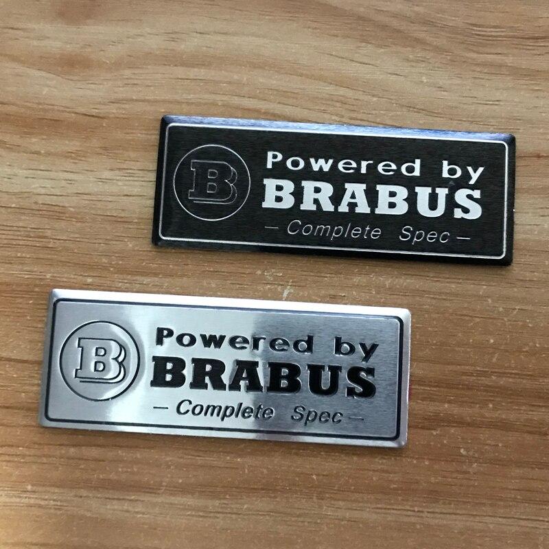 Aluminum Carving Stickers For BRABUS Emblem Car Sticker For Mercedes Benz W204 W203 W212 W211 W124 CLA Modification Accessorie