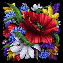 NEUE DIY 5D Bild Strass Diamanten Stickerei Blühende Blume Diamant Malerei Mosaik Muster Perlen Stickerei Stricken Beadwork