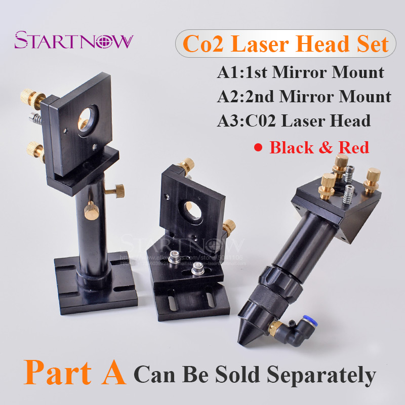 Laser Reflective Mirror And Focusing Lens Integrative Fixture Mount Holder CO2 Laser Head For Laser Engraving Cutting Machine