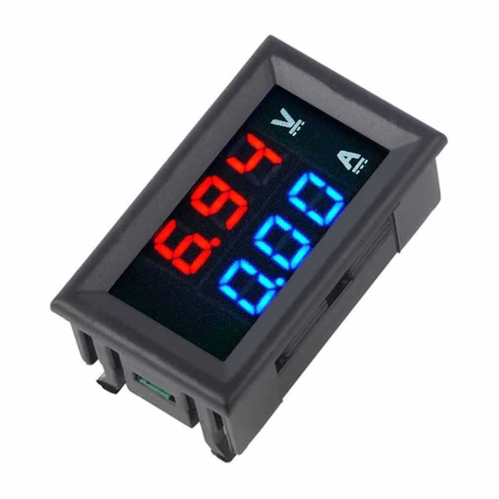 DC 100 V 10A voltímetro amperímetro azul + LED rojo medidor de voltímetro Digital amplificador de corriente de doble voltaje para herramienta casera uso