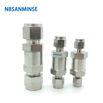 NBSANMINSE CV-OD/F Mini In Line Check Valve 6000 Psi Stainless Steel 316L 1/8 1/4 3/8 1/2 3/4 SS Check Valve 1 3 8 plunger check valve avoid direct contact between the torch flame and the valve body in any case replace superior valves