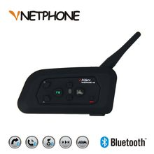 V4 1200 m Bluetooth Motorhelmen Bike Interphone 4 Rijders Headset Speaker Intercom voor KTM LS2 Arai Helm Voetbal Scheidsrechter(China)