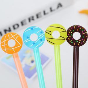 Image 2 - Jonvon Satone 50 adet sevimli kalem tatlı şeker halkası nötr kalem plastik yazma kalemler toptan kırtasiye Kawaii okul malzemeleri