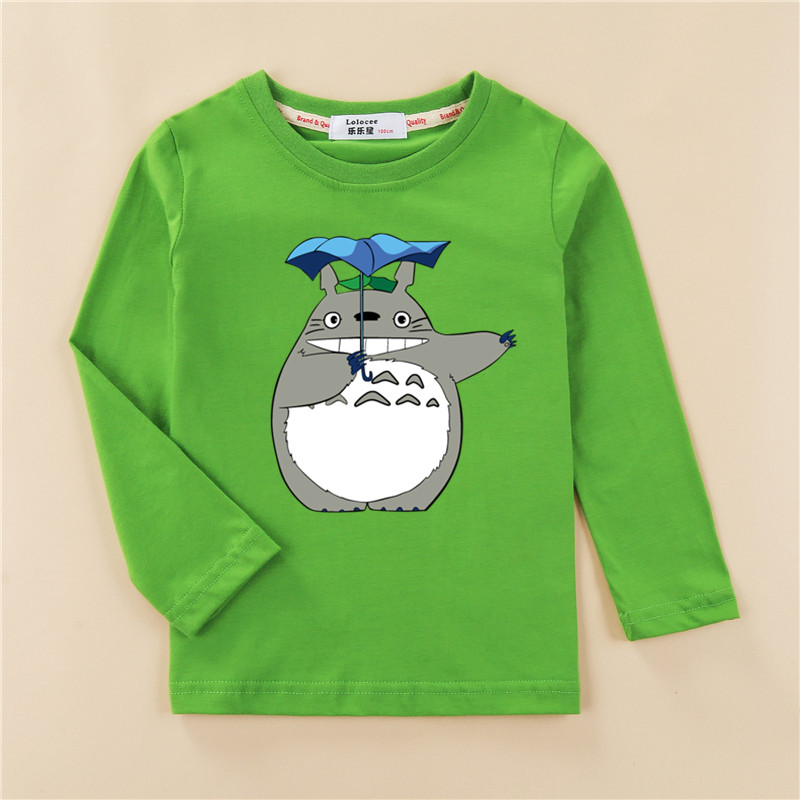 Boy Cartoon 3D T Shirt Totoro Print Kids New Tops Cotton Long Sleeve Baby Girl Clothes Tees 3-14T Tshirts 1