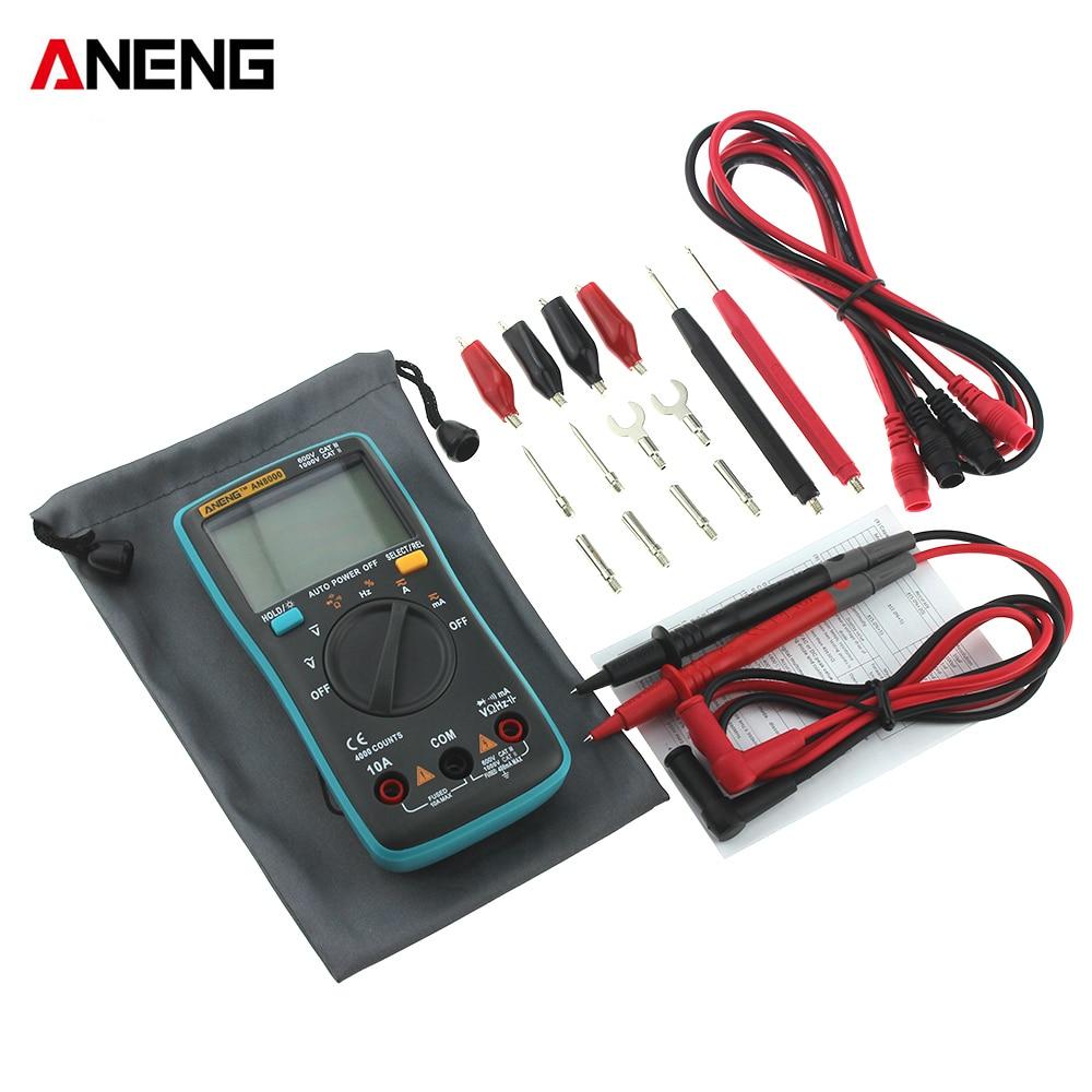 1 Pcs New Aneng An8000 One Laptop Lcd Screen Ohm Auto Range Tester Voltmeter Ammeter Panel 036