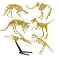 Ассорти Пластиковые Динозавров Ископаемый Скелет Динозавра Цифры Дети День Рождения Подарок Игрушки