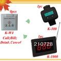 Sistema de pedidos para el restaurante de camarero 8 campana K-W4 y 1 restaurante pantalla K-1000 y 1 reloj de pulsera K-300 envío libre de DHL envío