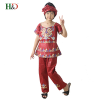 2016 Summer African Girls Clothing Style Children S Clothing Embroidery Fabrics Bazin Dashiki Style In Africa