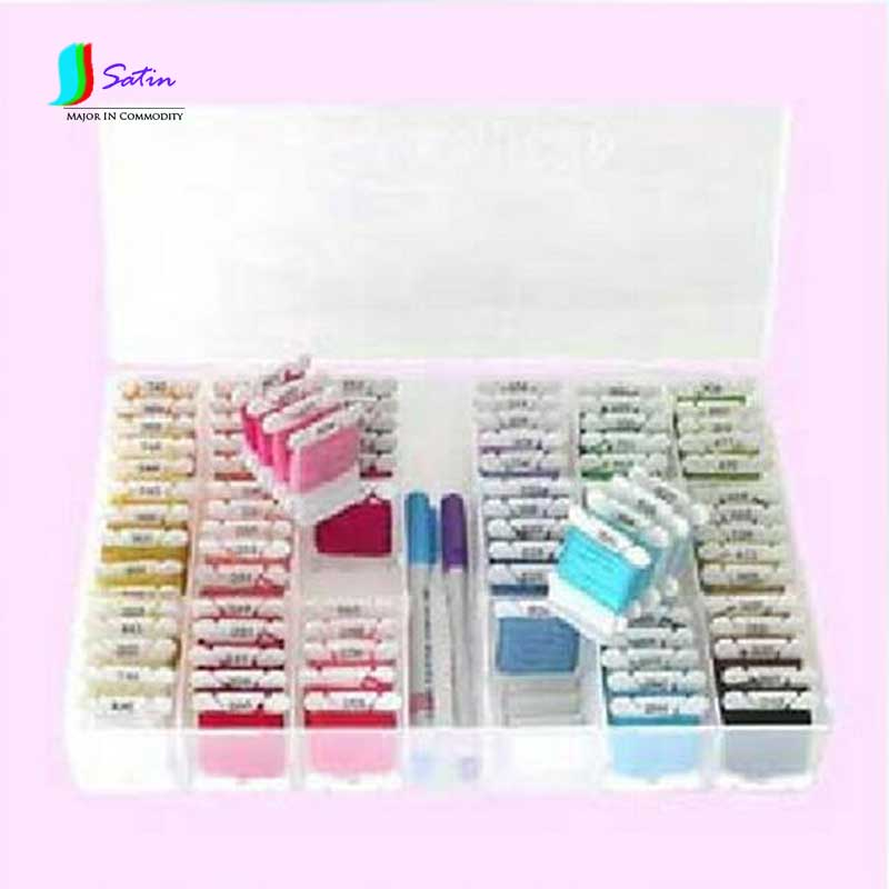 DIY Needlework Cross Stitch Tool Plastic Storge Box 36Grids+100Pcs Thread Board+1Pc number Sticker(For 447 thread number )S0182H-in Sewing Tools & Accessory from Home & Garden    1