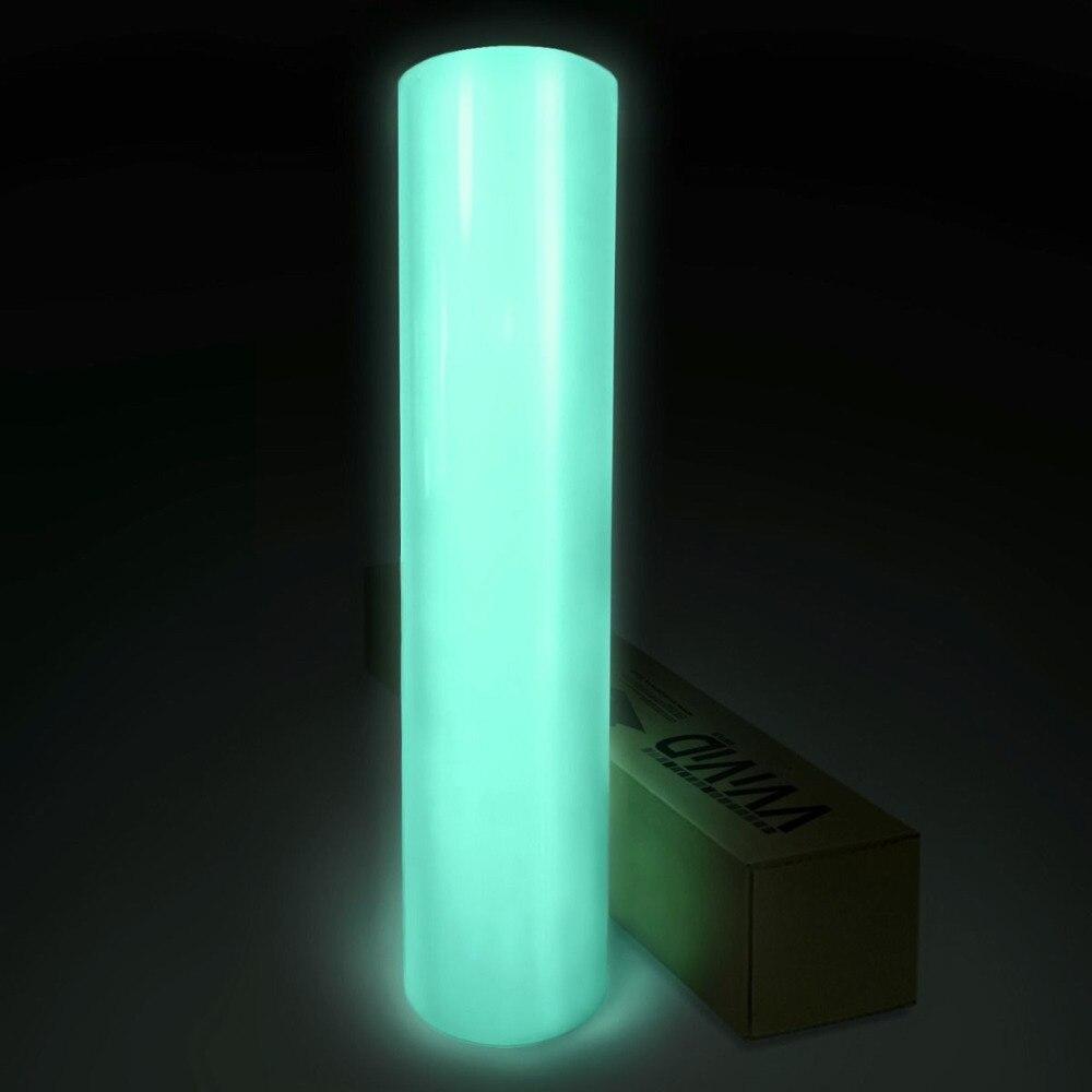 Autocollant vinyle Auto Luminescent lueur dans le film vinyle sombre 1.52x5 m
