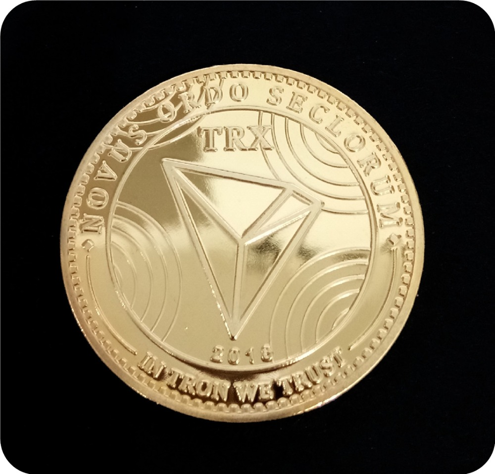 New Non-currency TRX Coins Virtual Metal Commemorative Coins TRX Coins Bitcoin Commemorative Coins Gift Drop Shipping 2